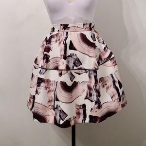 H&M Abtract Print Full Midi Skirt